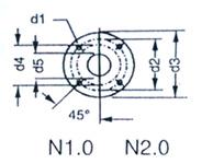 2BV水環式真空泵的安裝尺寸