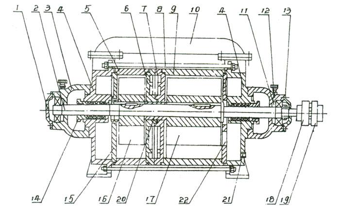 2SK水環真空泵的結構說明