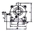 2SK-0.4、2SK-0.8兩級不環真空泵外形及安裝尺寸