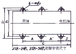 2SK-3P1、2SK-6P1、2SK-12P1、2SK-20P1、2SK-30P1外形及安裝圖